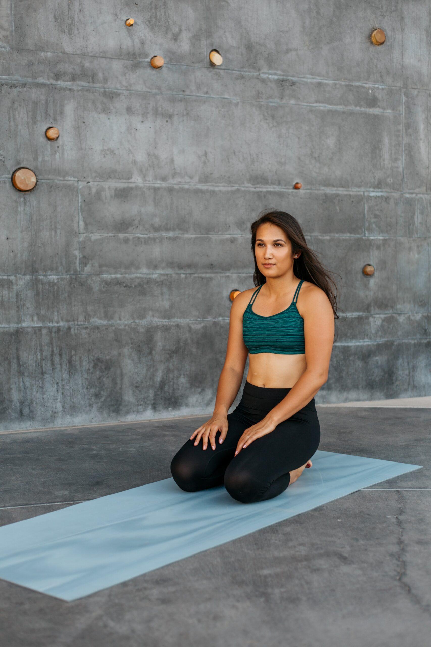 woman on yoga mat